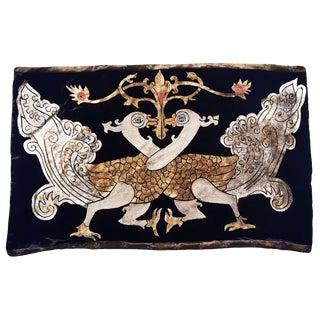 Phoenix Silk Velvet Pillow For Sale