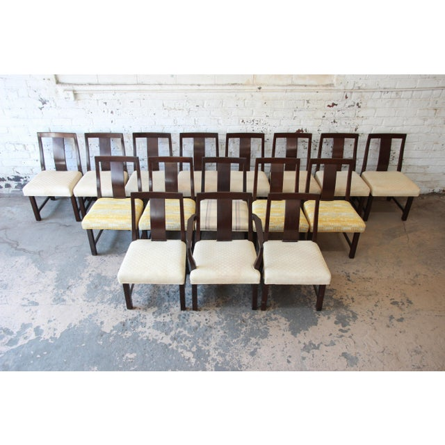 Edward Wormley for Dunbar Mid-Century Modern Dining Chairs, Set of 16 For Sale - Image 13 of 13
