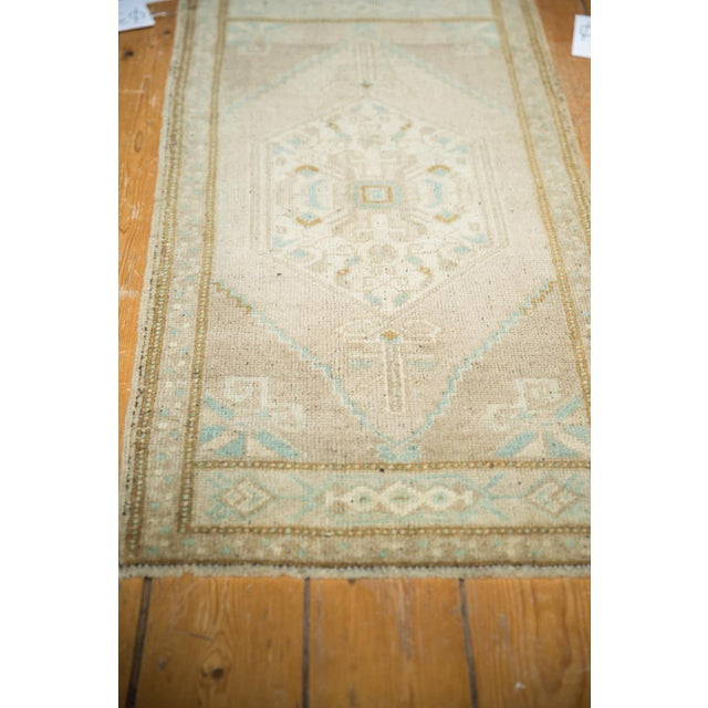 "Old New House Vintage Distressed Oushak Rug Mat Runner - 1'9"" X3'6"" For Sale - Image 4 of 7"