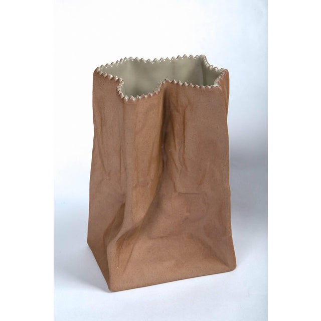 Tapio Wirkkala Vintage Paper Bag Vases by Tapio Wirkkala, Rosenthal, Finland, Circa 1970s For Sale - Image 4 of 11