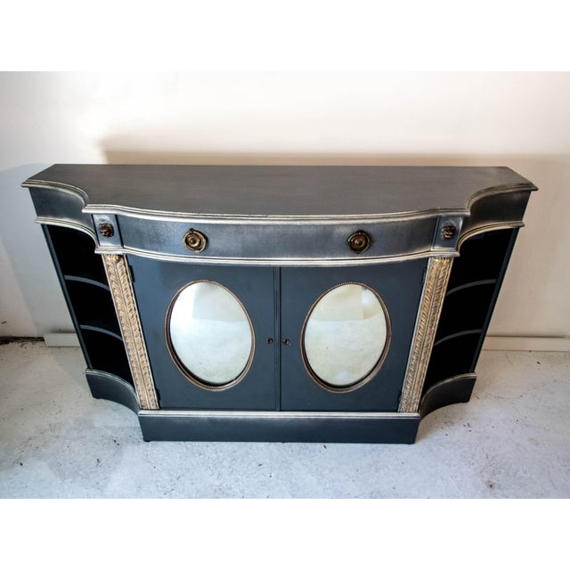 Antique Mirrored Bar Cabinet / Hall Table - Image 3 of 9