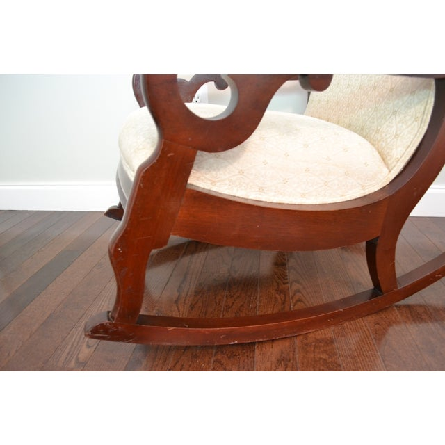 Antique Victorian Mahogany Rocking Chair For Sale - Image 5 of 8
