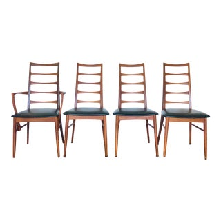 1960s Danish Modern Koefoeds Hornslet Dining Chairs - Set of 4 For Sale