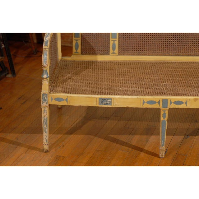 Gustavian Style Poly-Chrome Settee - Image 4 of 4