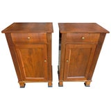 Image of Italian Walnut Nightstands - a Pair For Sale
