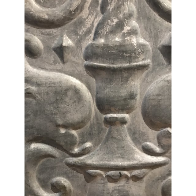Industrial Mid 19th Century Zinc Architectural Panel For Sale - Image 3 of 4