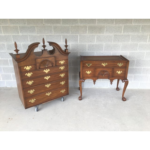 Brown Henkel Harris Solid Mahogany Chippendale Style Ball & Claw Highboy For Sale - Image 8 of 12