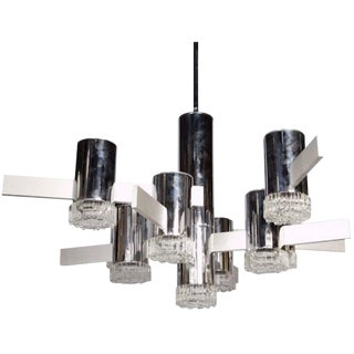 1970s Italian Chandelier by Gaetano Sciolari For Sale