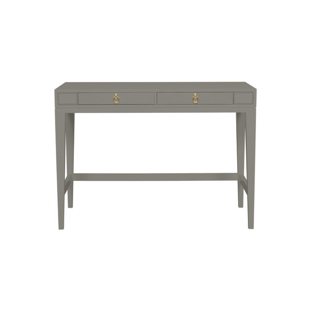 Traditional Casa Cosima Living Issa Counter Height Desk - Chelsea Gray For Sale - Image 3 of 3