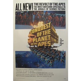 Vintage Movie Poster Conquest of the Planet of the Apes 1972 For Sale
