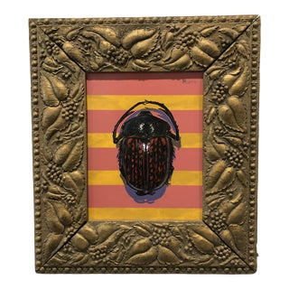 On Stripes Beetle Painting by Kevin Brent Morris For Sale