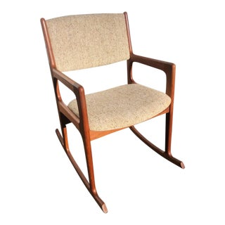 1970s Vintage Mid-Century Rocking Chair by Benny Linden For Sale