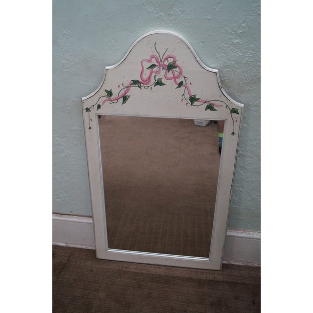 Store Item #: 8833 Hand painted Venetian Andrea Davinci Braun mirror. Approx 25 years, America. Quality, solid wood frame,...