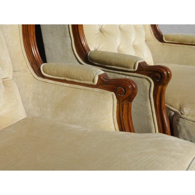 Pair of Bernhardt Tufted Wing Back Velvet Chairs - Image 11 of 11