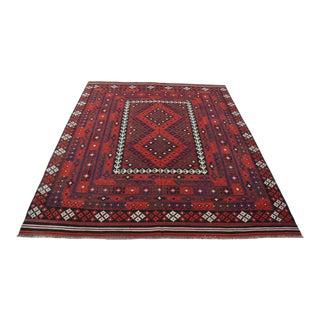 Square Afghan Tribal Kilim For Sale