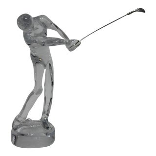 Baccarat Crystal Golfer Figurine For Sale