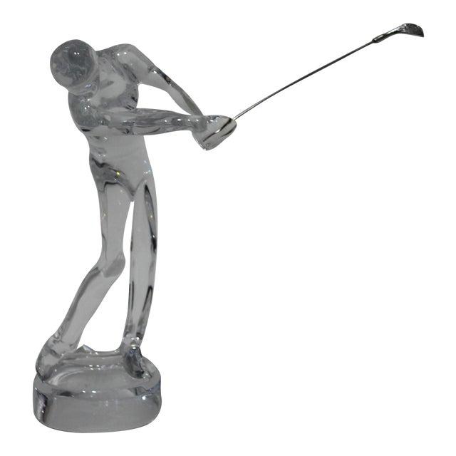 Baccarat Crystal Golfer Figurine For Sale