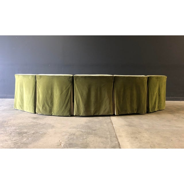 Vintage Velvet Green Sectional For Sale - Image 4 of 10
