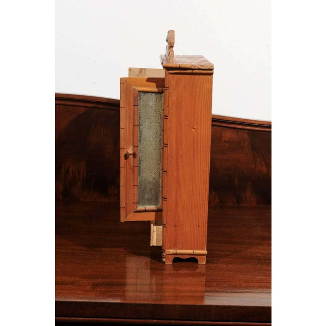 Wood Antique French Miniature Pine Armoire For Sale - Image 7 of 10