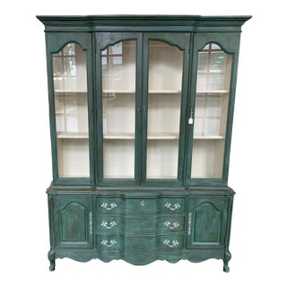 Vintage Bassett French Provincial China Cabinet For Sale