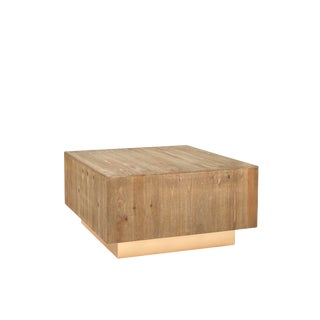 Leo Wood Square Coffee Table For Sale