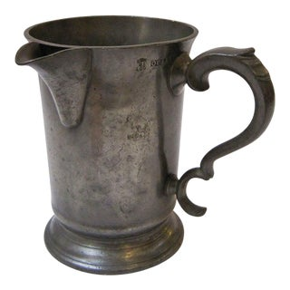 English Pewter Tankard or Flagon For Sale