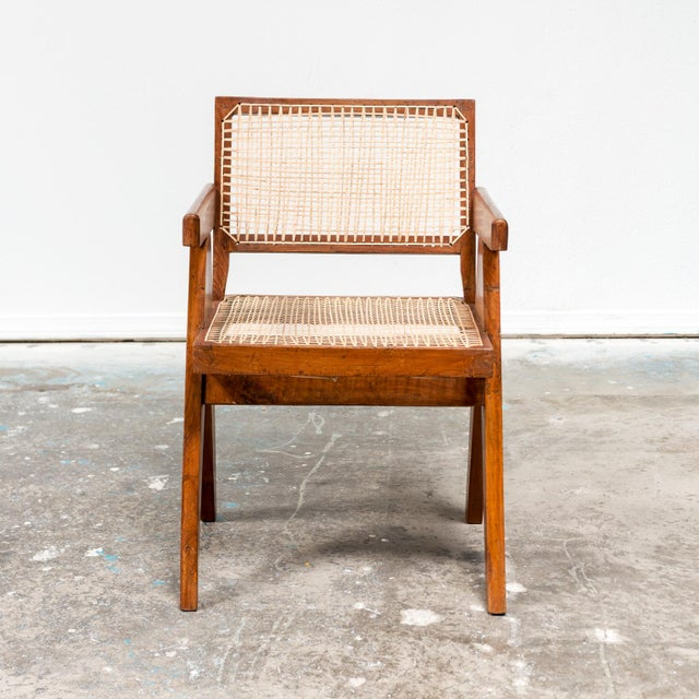 Pierre Jeanneret Office Armchair by Pierre Jeanneret, India, 1950s For Sale - Image 4 of 9