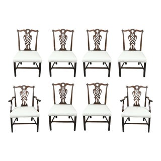 George III Style Mahogany Dining Chairs - Set of 8 For Sale