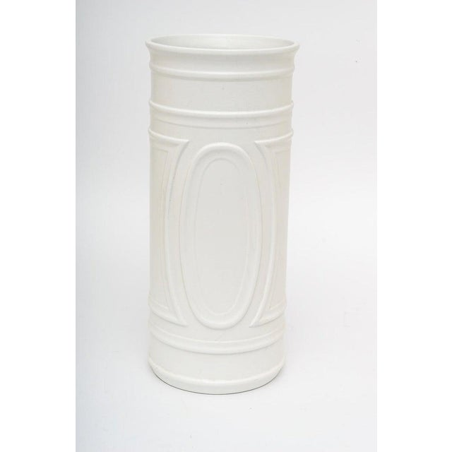 1960s White Umbrella Stand in Glazed Pottery For Sale In West Palm - Image 6 of 9
