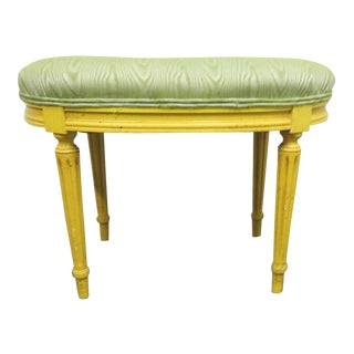 Louis XIV Yellow Vanity Bench