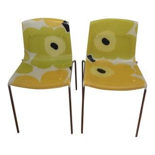 Piirounen Marimekko Unikko Flakes Chairs - a Pair For Sale