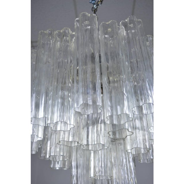 Crystal Murano Glass Tronchi Chandelier For Sale - Image 7 of 9