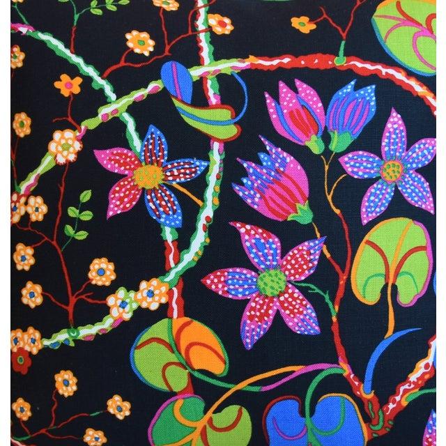"Josef Frank Designer Josef Frank ""Teheran"" Floral Linen Feather/Down Pillows 18"" Square - Pair For Sale - Image 4 of 11"