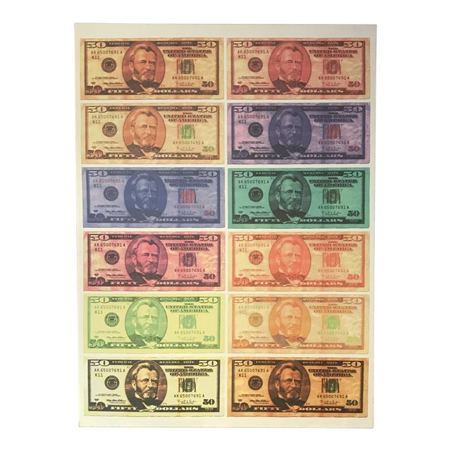 Ulysses S. Grant $50.00 Bills Canvas Art For Sale