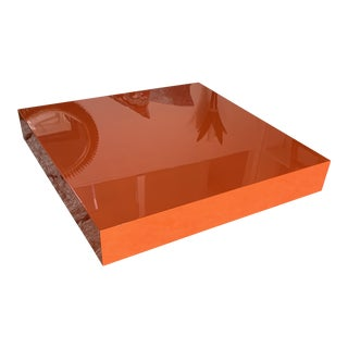 Jonathan Adler Modern Lacquered Lucite Coffee Table For Sale