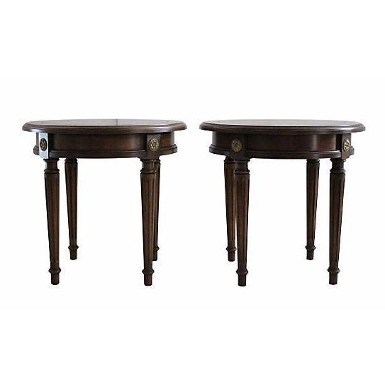 Louis XVI Taboret Tables - A Pair - Image 1 of 3