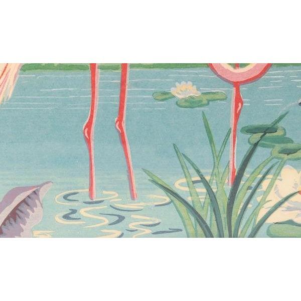 Vintage Mid-Century Flamingo Painting By M. Devoe For Sale In Cincinnati - Image 6 of 10