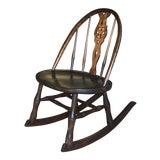 Image of Antique Primitive Windsor Style Child's Rocker Rocking Chair For Sale