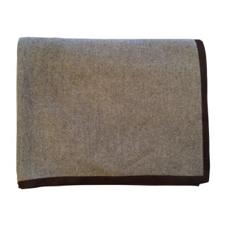 Frette Cashmere and Leather Throw Blanket