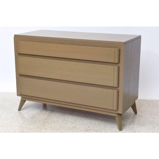 Modern Pair of American Modern Cerused Oak Commodes For Sale - Image 3 of 9