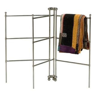 Modern Sarreid LTD Stainless Steel Towel Rack For Sale