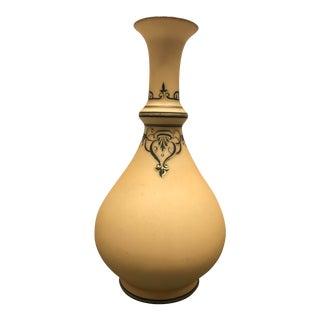 1850s Neoclassical Yellow Porcelain Vase