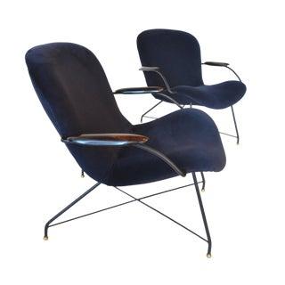 Carlo Hauner, Martin Eisler Lounge Chairs Jacaranda Brazilian Mid Century Modern For Sale