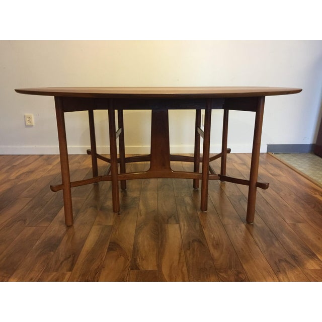 Heritage Henredon Drop Leaf Dining Table For Sale - Image 5 of 10