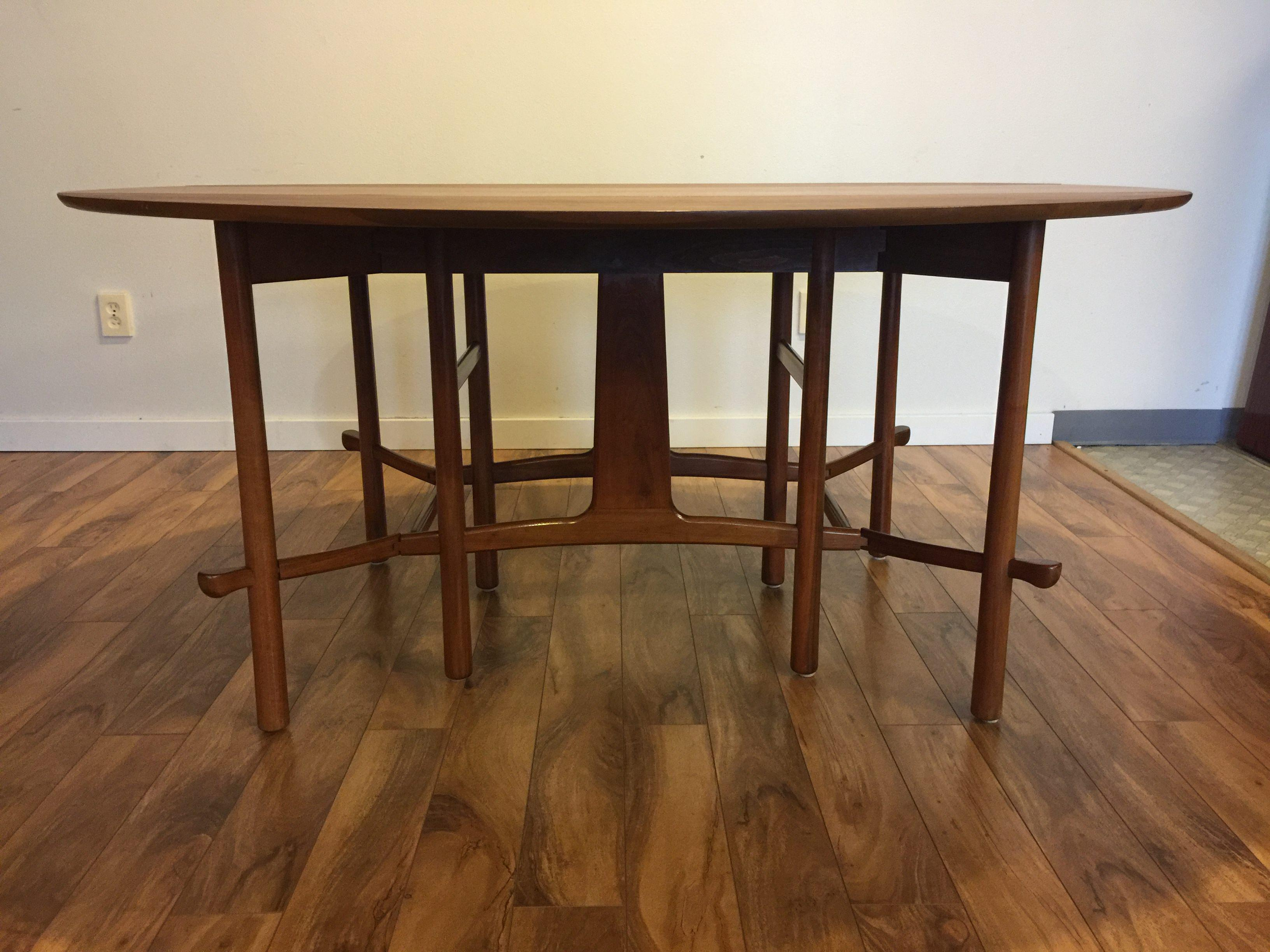 Heritage Henredon Drop Leaf Dining Table   Image 5 Of 10