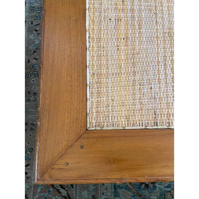 1970s 1970s Faux Bamboo and Ratan Coffee Table For Sale - Image 5 of 8