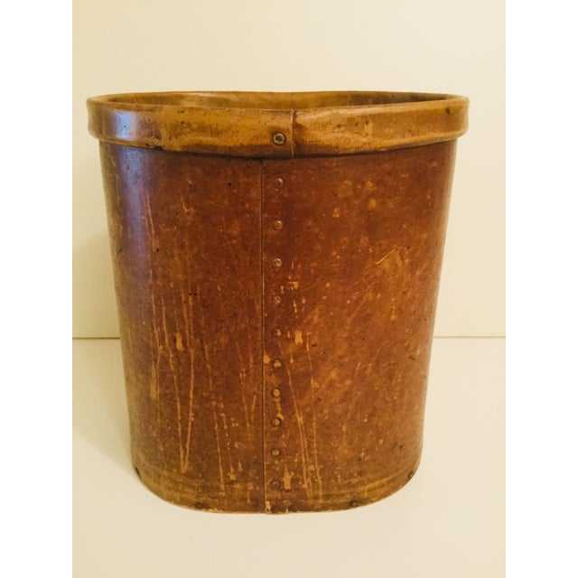Shabby Chic Antique French Floral Waste Basket For Sale - Image 3 of 7