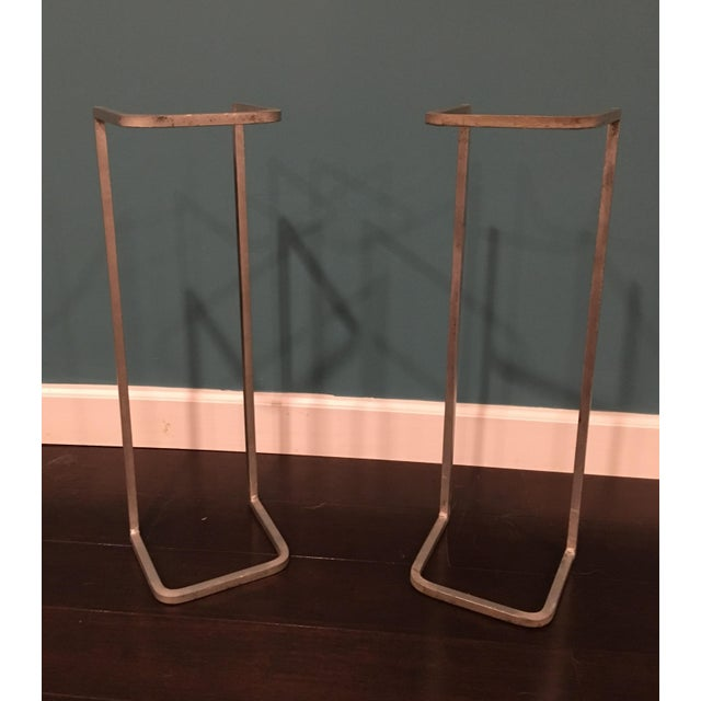 Industrial Metal Table Supports - A Pair - Image 4 of 8