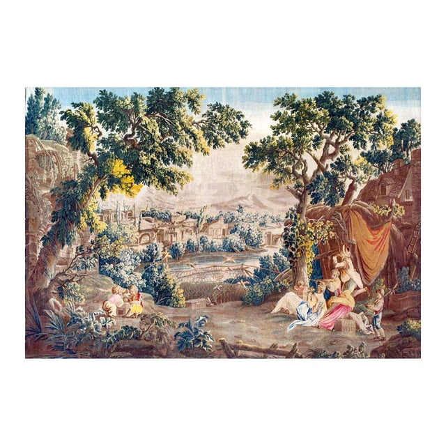 18th Century 18th Century Antique Tapestry From Royal Manufacture of Aubusson - L'Oiseleur For Sale - Image 5 of 6
