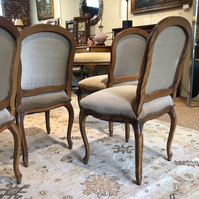 Louis XV Style Walnut Dining Chairs - Set of 4 - Image 7 of 9